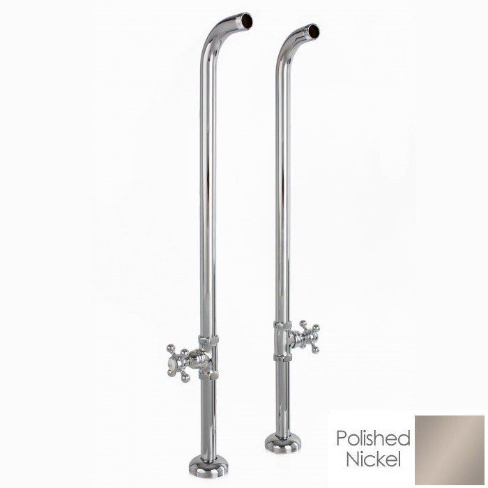 Freestanding Claw Foot Tub Hand Shower Faucet With Shut Off Valve