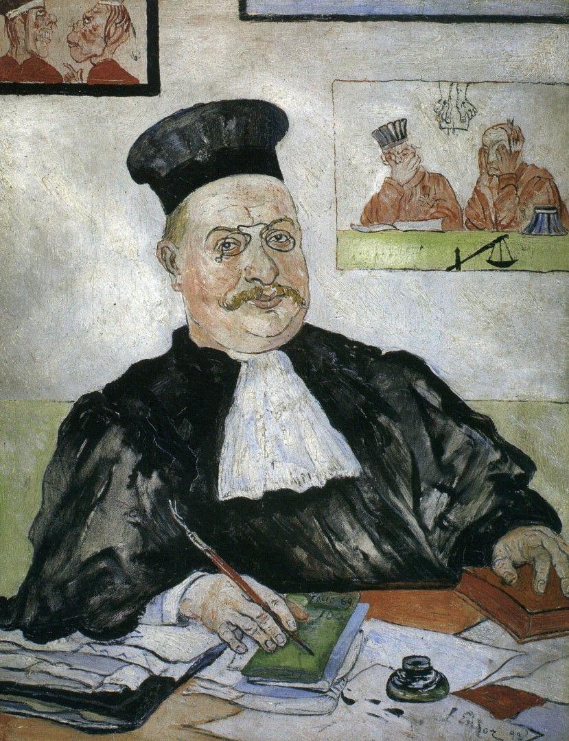 1892 James Ensor Portrait De Gustave Culus Ou Le Juge Intègre Portrait Of  Gustave Culus Or