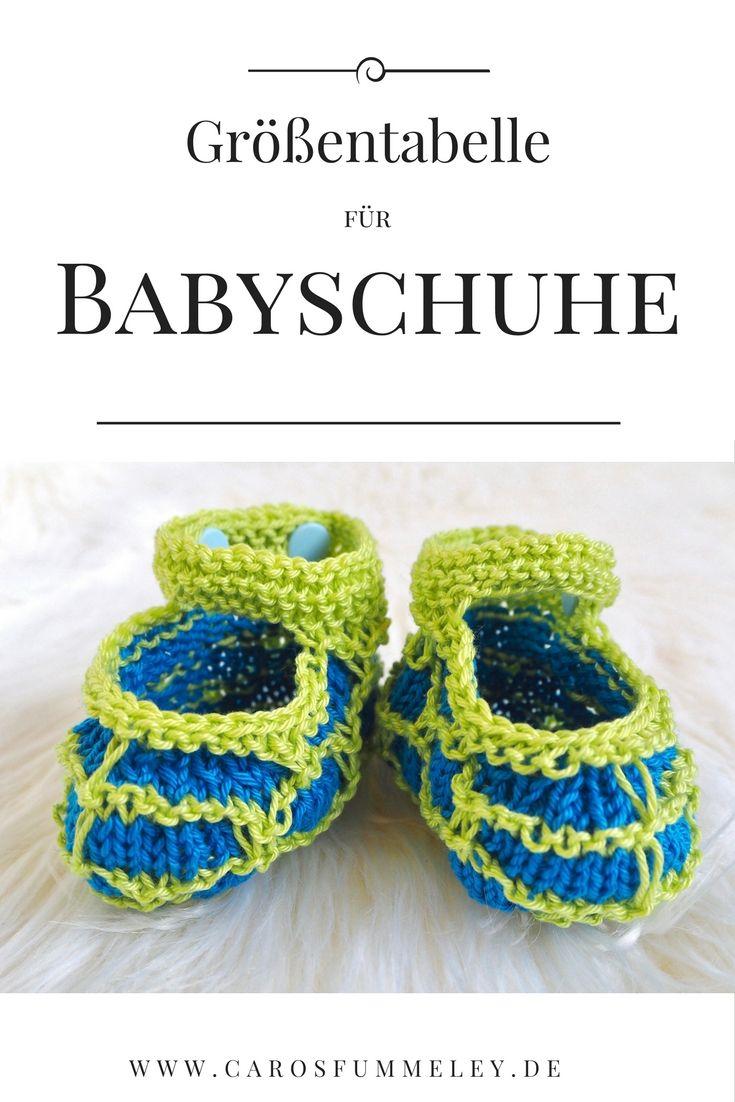 Babyschuhe und -socken in der richtigen Größe stricken ...