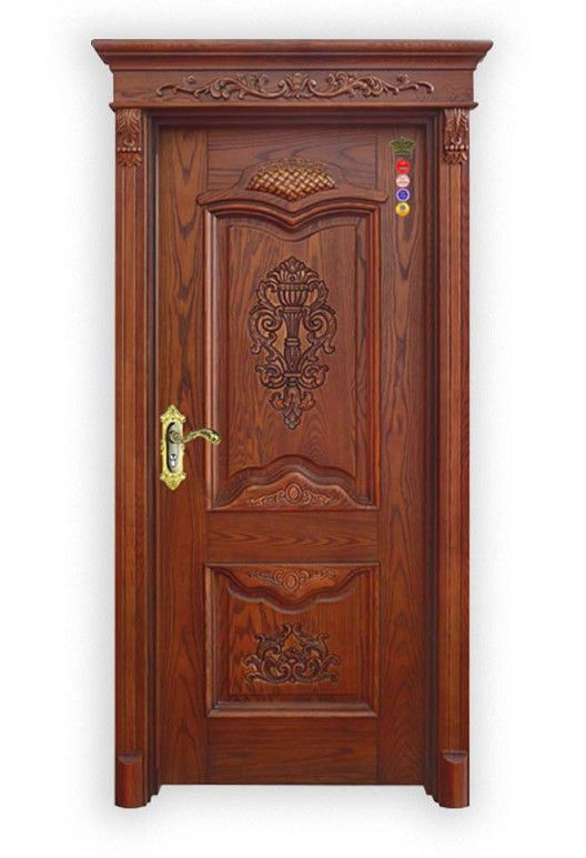 Latest Design Modern Carved Exterior Solid Teak Wood Main Door