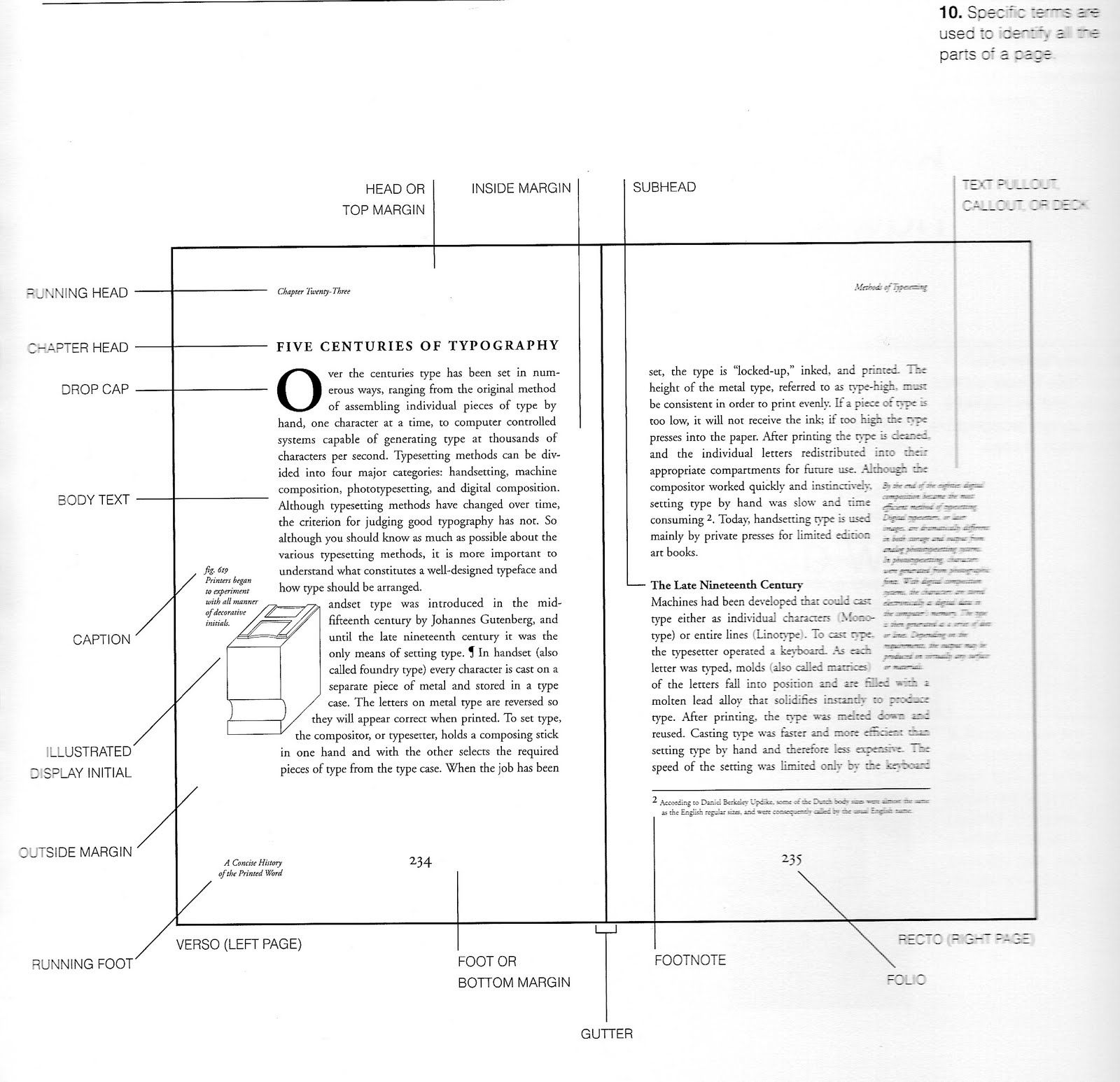 Layout Terminology Typo Terms With Images Book Design Layout