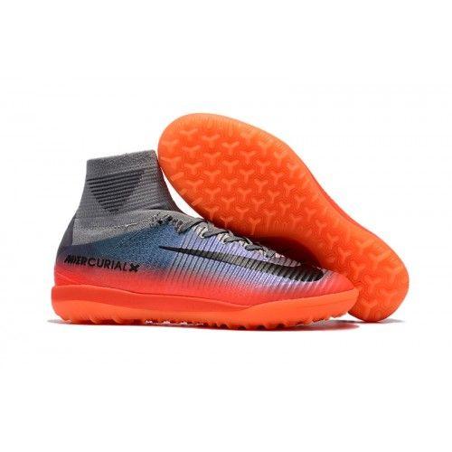 promo code d1287 f7275 Scarpe Da Calcio Online Nike MercurialX Superfly V Proximo II CR7 TF Grigie  Arancione Nere