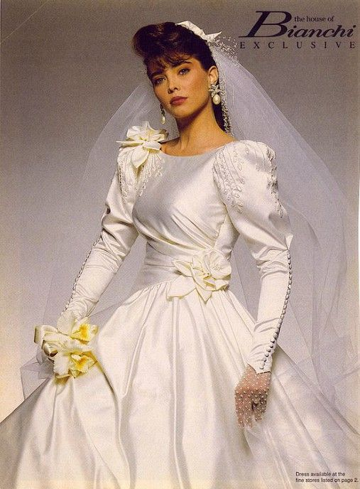 The House of Bianchi Wedding Gown, 1990\'s. | Beautiful Bridal Gowns ...
