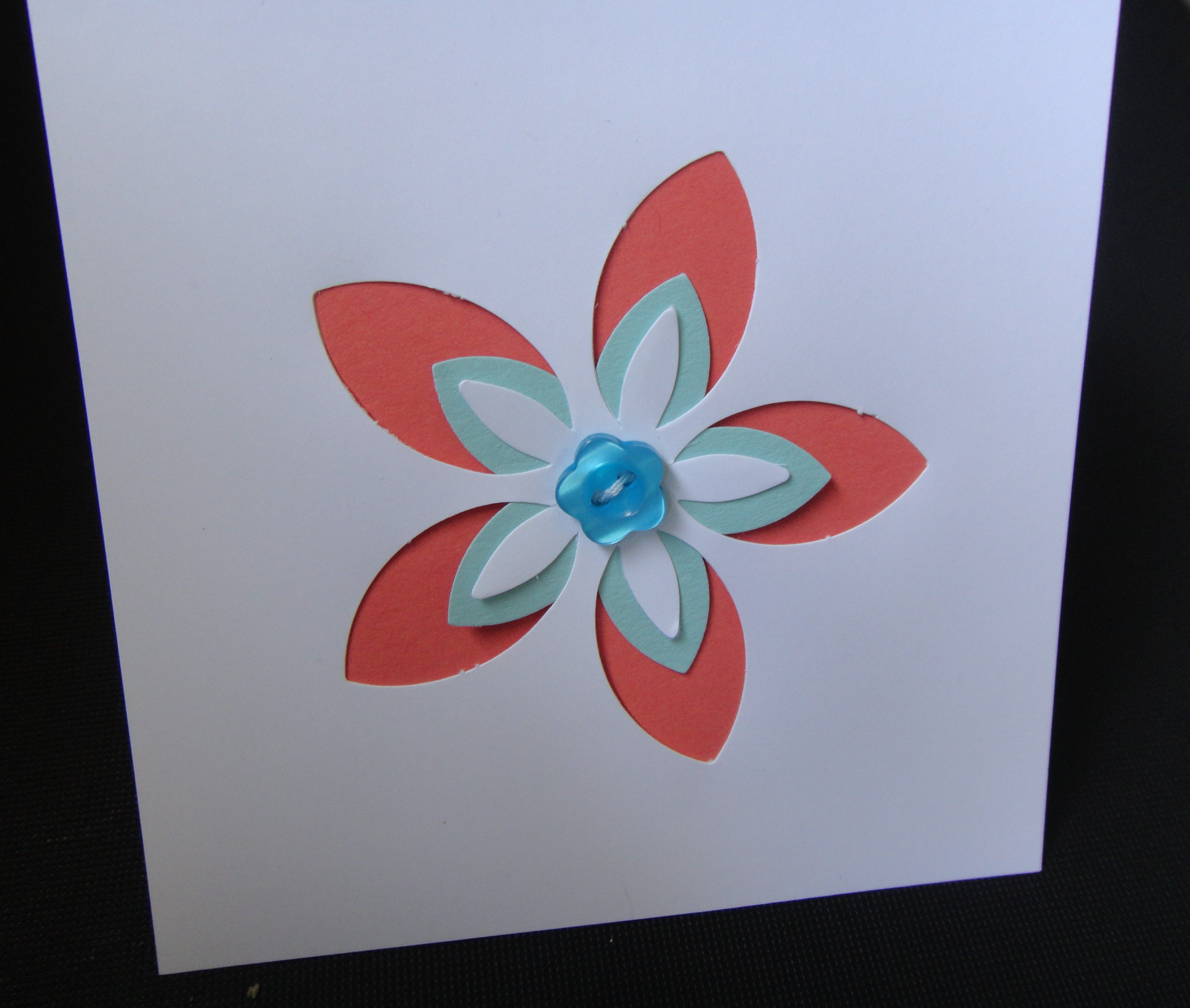 Flower card made with stampin up products i recently