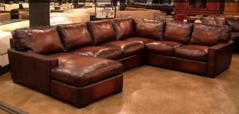 Napa Maxwell Oversized Seating Leather Sectional Living Room Sectional Leather Sectional Living Room Leather Sectional