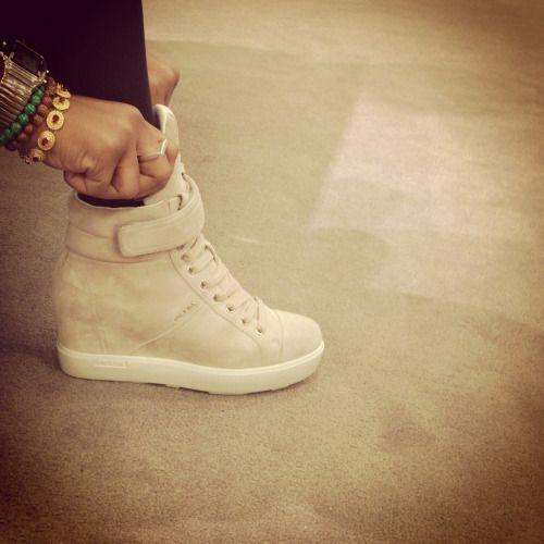 03ead3761d10 prada suede wedge sneakers - Google Search