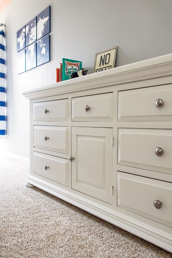 Diy Dresser Makeover From An Old Pine New Hardware And Painted With Furniture Paint To Create A Modern Updated