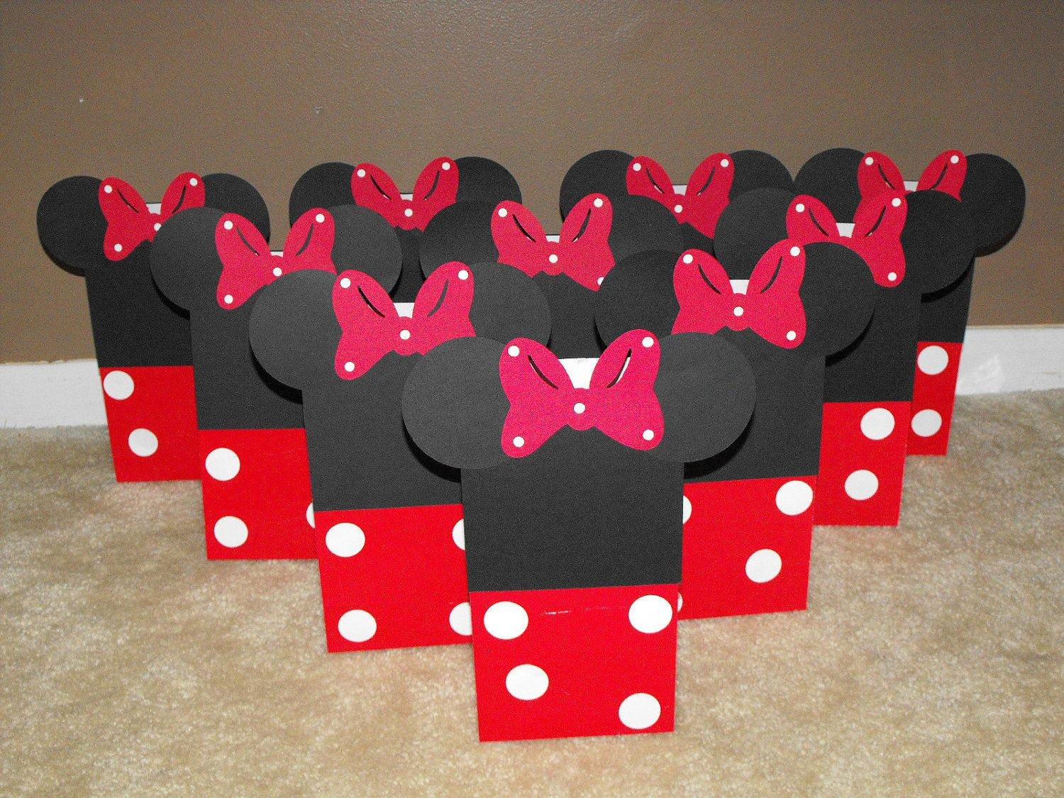 Minnie Mouse Party Favor Bags Red And White Treat