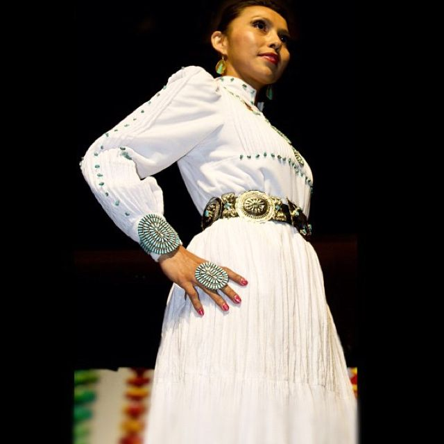Runway Model in a Traditional Navajo Gown. From Tapahe Photos ...