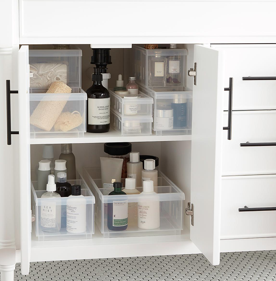 These 11 Bathroom Cabinet Organizers Aren't Messing Around | Hunker #cabinetorganizers