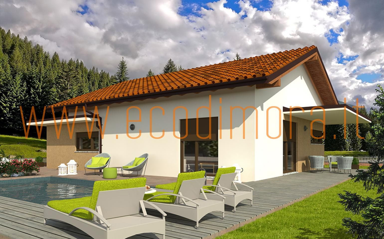 Interni Case Prefabbricate In Legno casa prefabbricata in legno comfort 140 | case prefabbricate