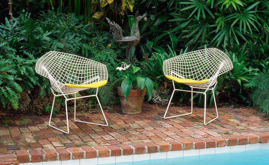 Bertoia Small Diamond Chair With Seat