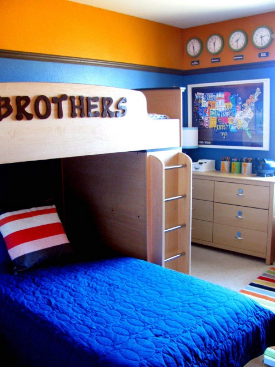 Bedroom Ideas For Two Brothers Boys Bedroom Colors Boy Room Paint Kids Bedrooms Colors
