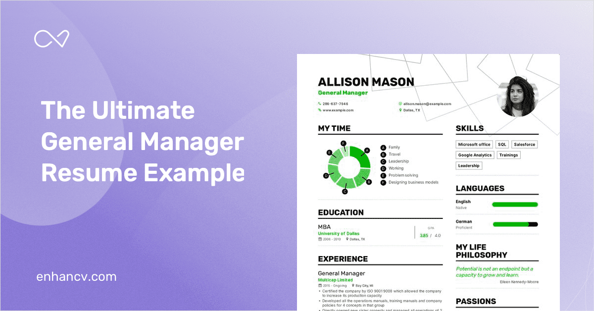 General Manager Resume Examples [Inside HowTo Tips