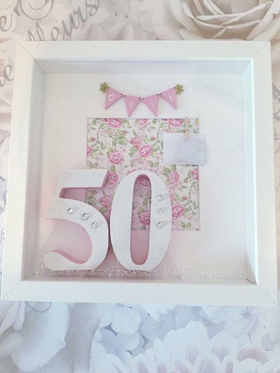 Birthday Box Frame 18th 21st 30th 40th 50th 60th by Inspirewordart ...