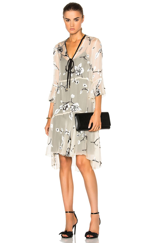 Planet brushstroke print maxi dress