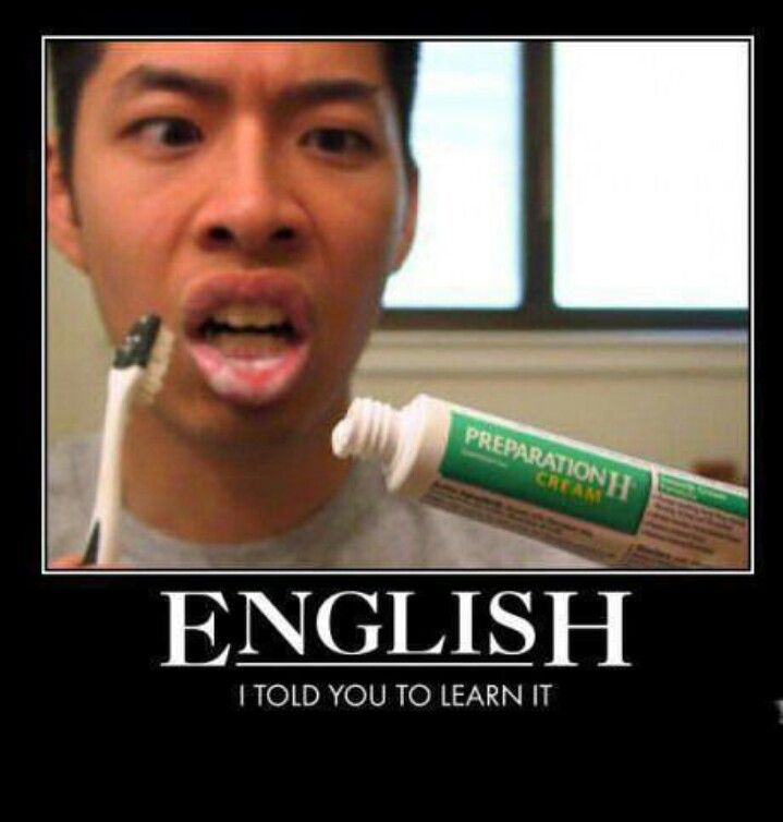 Why it's important to learn English | Funny posters, Funny ...