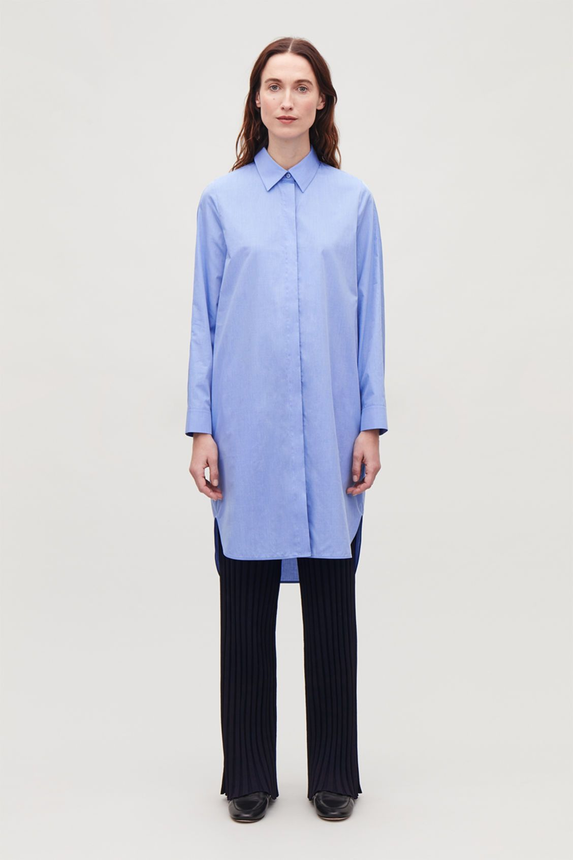 Image Front Model Dress Fil Blue Cos Cotton Shirt A In Of qrqZd5