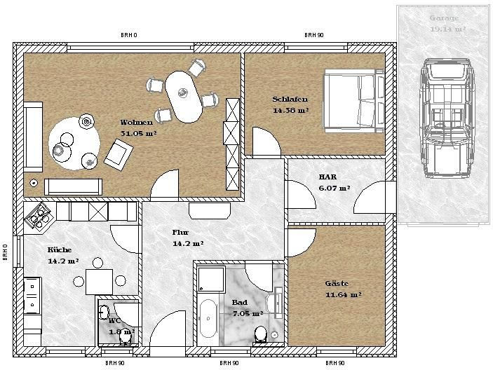 haus bauen bungalow. Black Bedroom Furniture Sets. Home Design Ideas