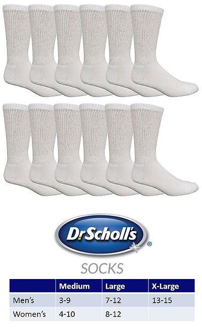 Socks 166695 Dr Scholl S Diabetes And Circulatory Crew Sock 12