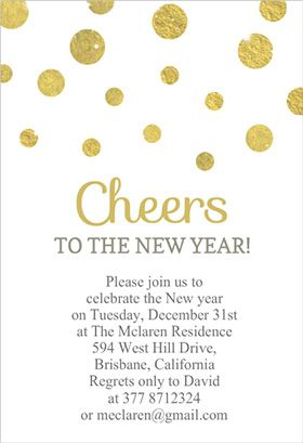 cheers to the new year printable invitation customize add text