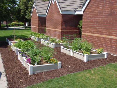 Raised Bed Vinyl Garden Boxes By Ez Gardens Garden Design Plans Garden Beds Beautiful Raised Garden Beds