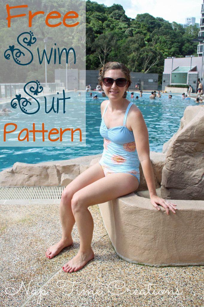 Free Swimsuit Pattern and Tutorial | Nähen, Freebooks und Frauenkleidung