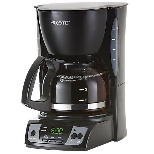 Mr coffee cgx7 5 cup programmable coffeemaker black for Apartment therapy coffee maker
