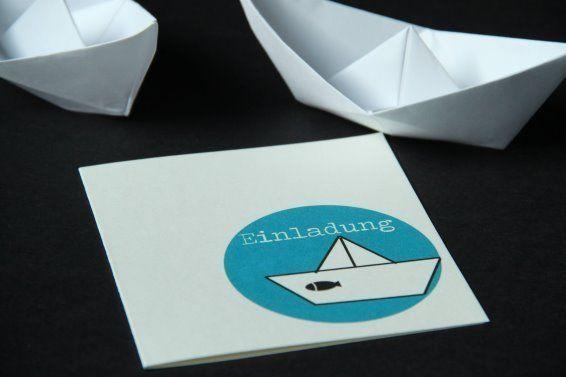 einladung konfirmation kommunion papier boot. Black Bedroom Furniture Sets. Home Design Ideas