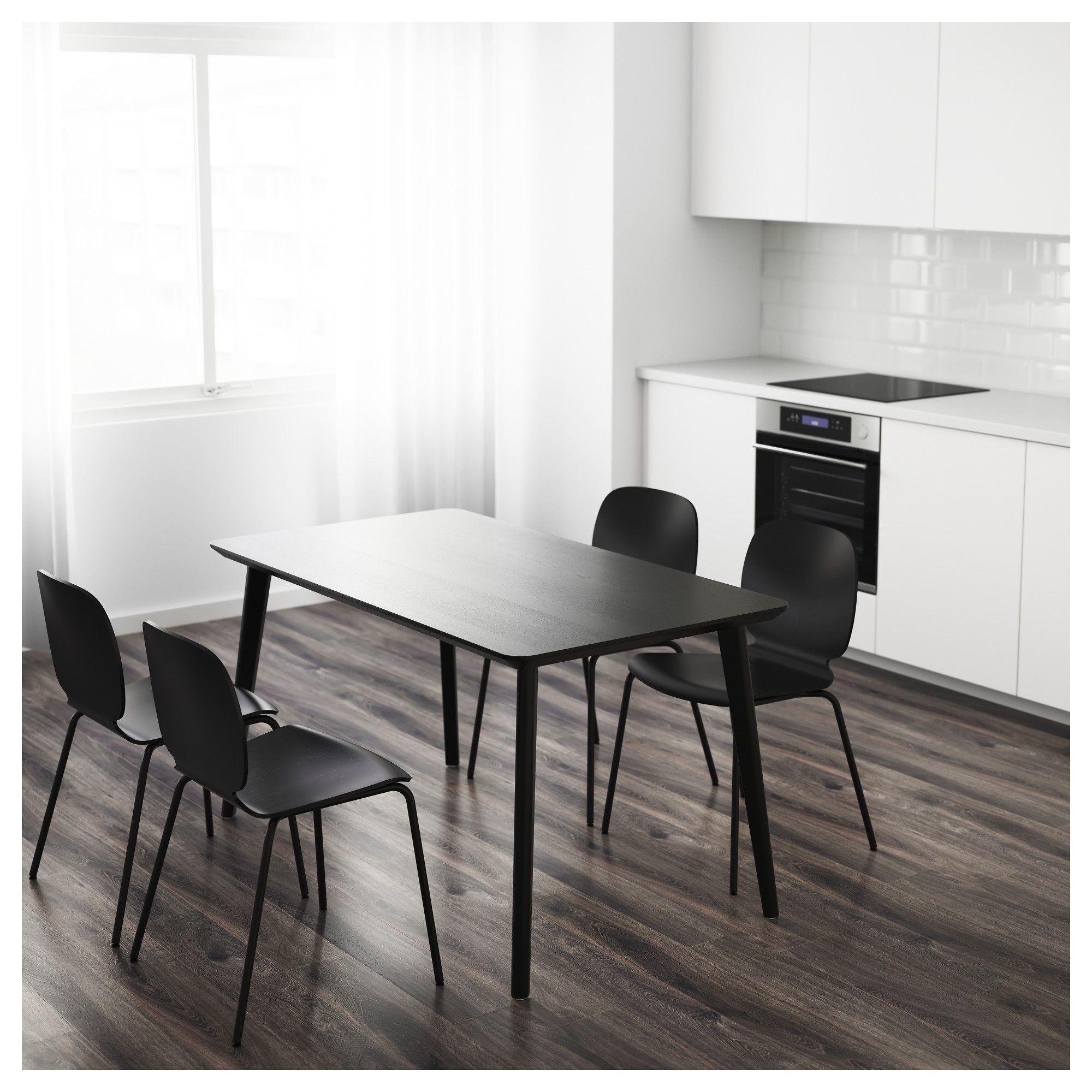 "LISABO Table black 55 1/8x30 3/4 "" (140x78 cm) Kitchen"