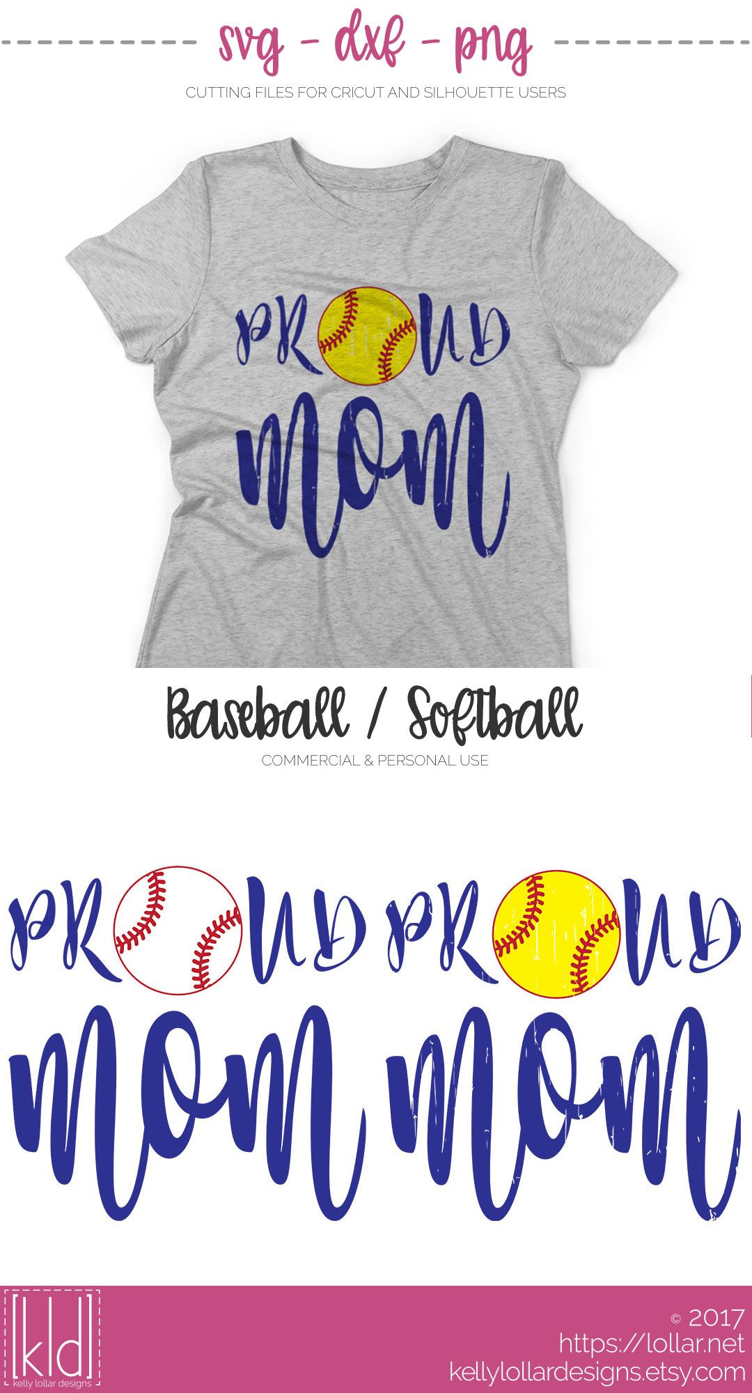 Proud Baseball / Softball Mom svg file Free for Personal
