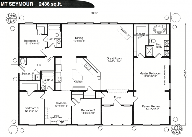 Parent retreat would be library office love this layout for Simple barn home plans