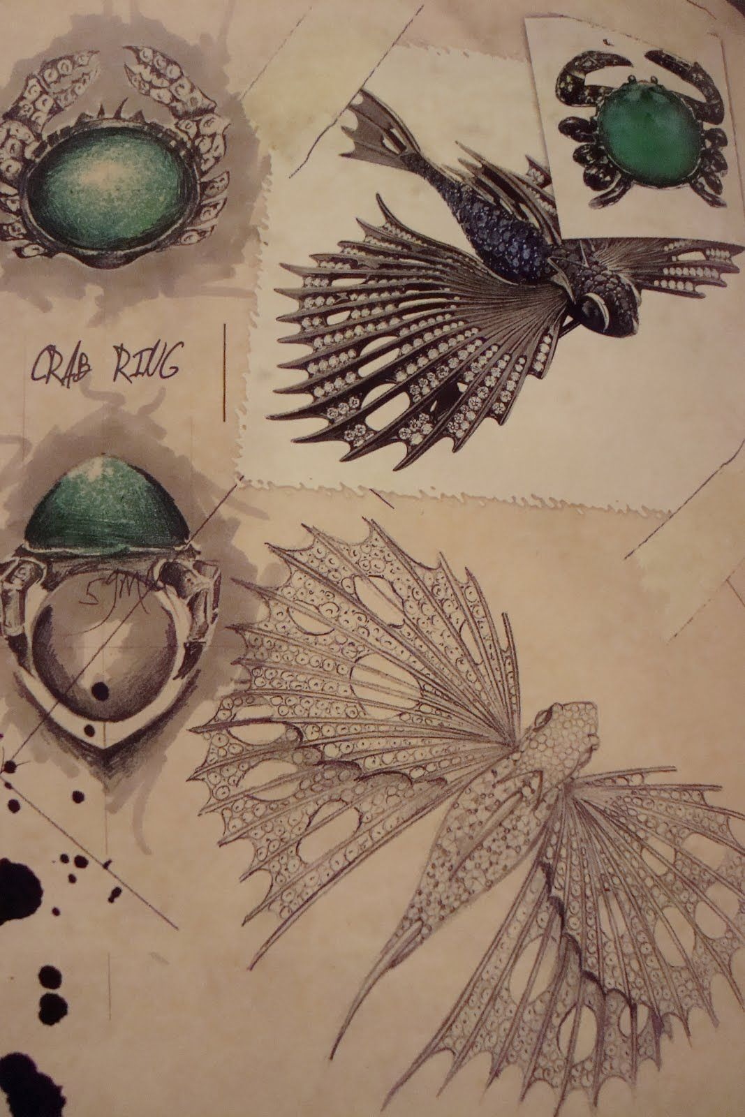 Drawing jewels for fashion by carol woolton via echic jewelry