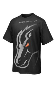 low priced 215b0 37a87 Boise State Broncos Nike Blackout T-Shirt | Boise State ...