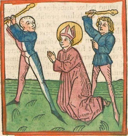 Jacobus : Legenda aurea Augsburg, nicht nach 1475 Ink I-66 - GW M11168 Folio 104