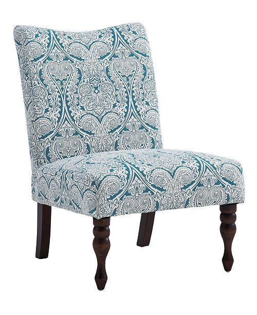 Best Furniture Payton Accent Chair Paisley Blue Reviews 400 x 300