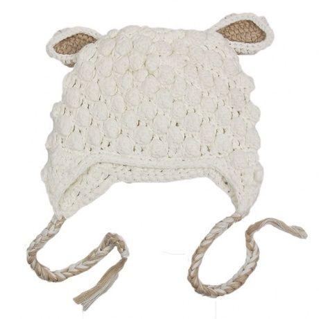 Gorro hecho a mano bebé ovejita Ideal para fotos este gorro de algodón muy  gustoso para bebé o recién nacido. Gorro oveja en color blanco y beige.  22 30d734de289