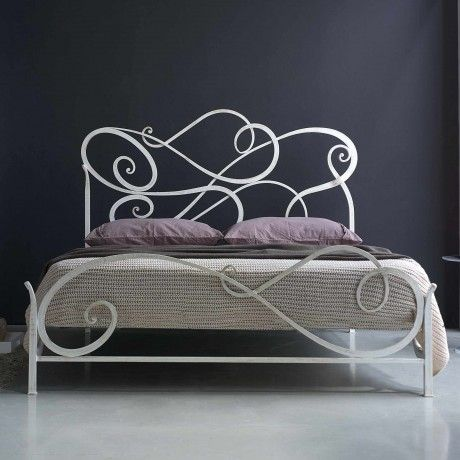 Modern White Cosatto Auran Wrought Iron Bed Design Feature Unique Shaped Iron Bed Frame Iron Bed Wrought Iron Beds