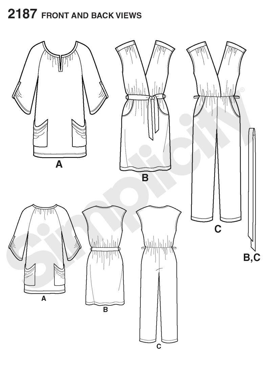 Simplicity pattern 2187: Misses' Sportswear dress
