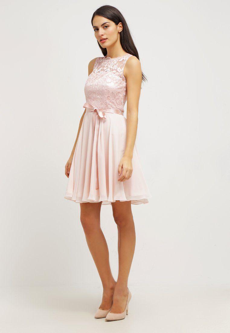 Robe de cocktail swing rose