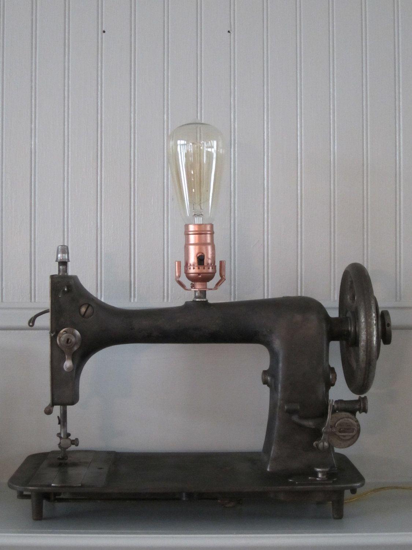 Vintage Sewing Machine Lamp 100 00 Via Etsy Want