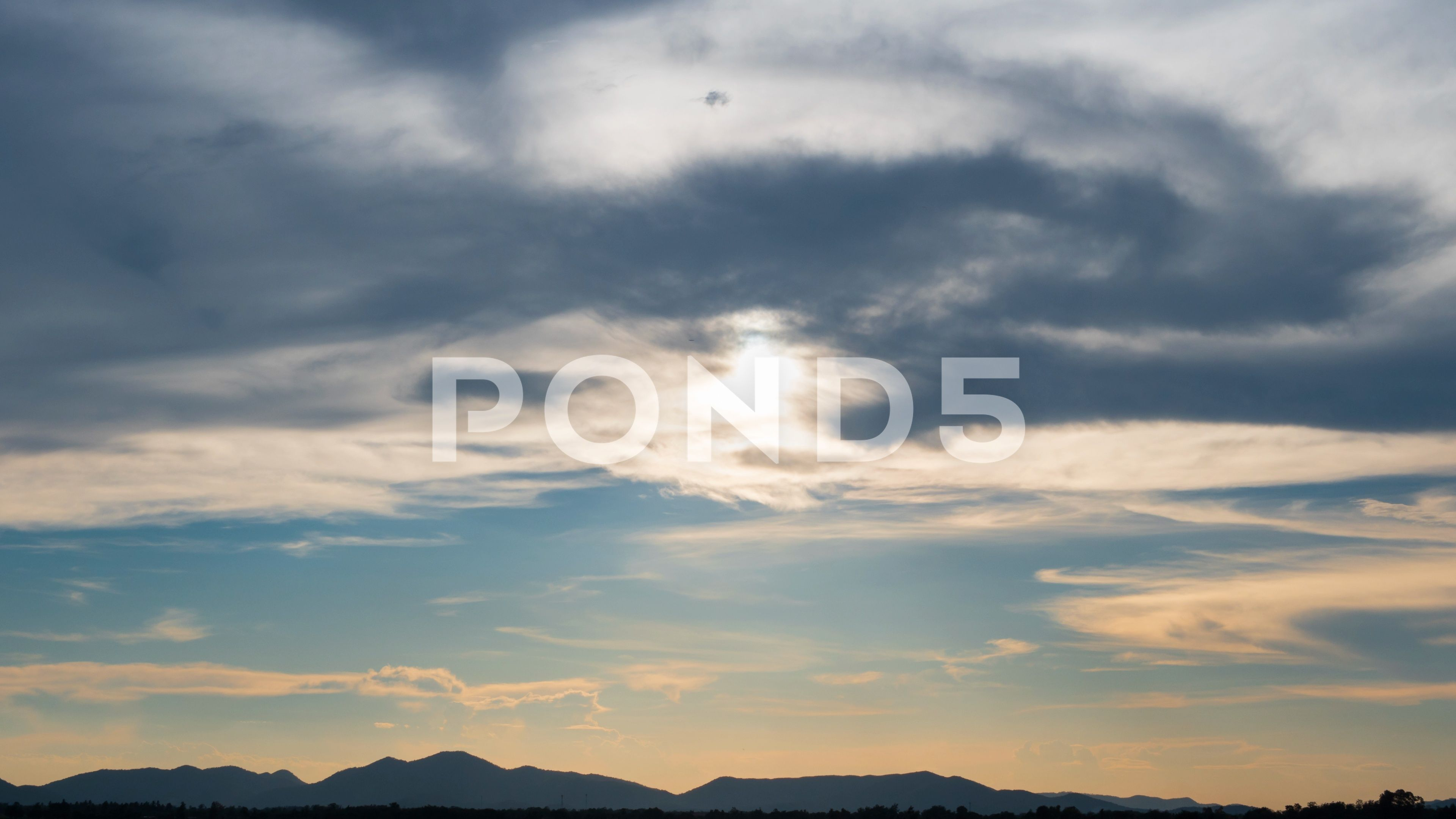 Time lapse nature background of Sunset at mountain and cloud on sky Stock Footage backgroundSunsetnatureTime