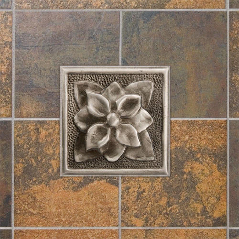 "4"" Aluminum Wall Tile with Dogwood Flower Design Kitchen"