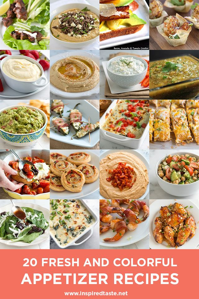 20 Fresh And Colorful Appetizer Recipes Appetizer Recipes Food