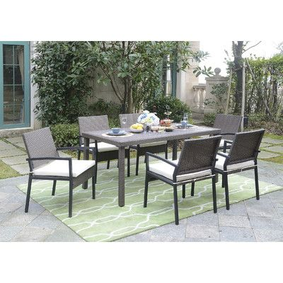 Mercury Row Indus 7 Piece Dining Set