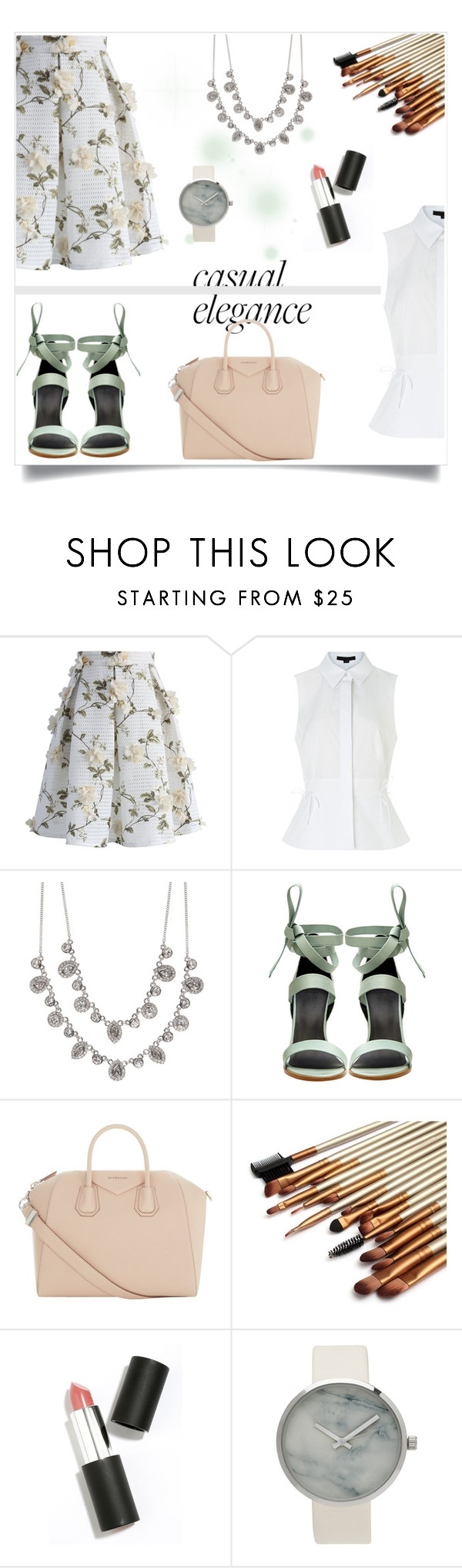 """""""MINT & FLORAL"""" by letiletz on Polyvore featuring moda, Chicwish, Alexander Wang, Givenchy, TIBI, Sigma Beauty e Flowers"""