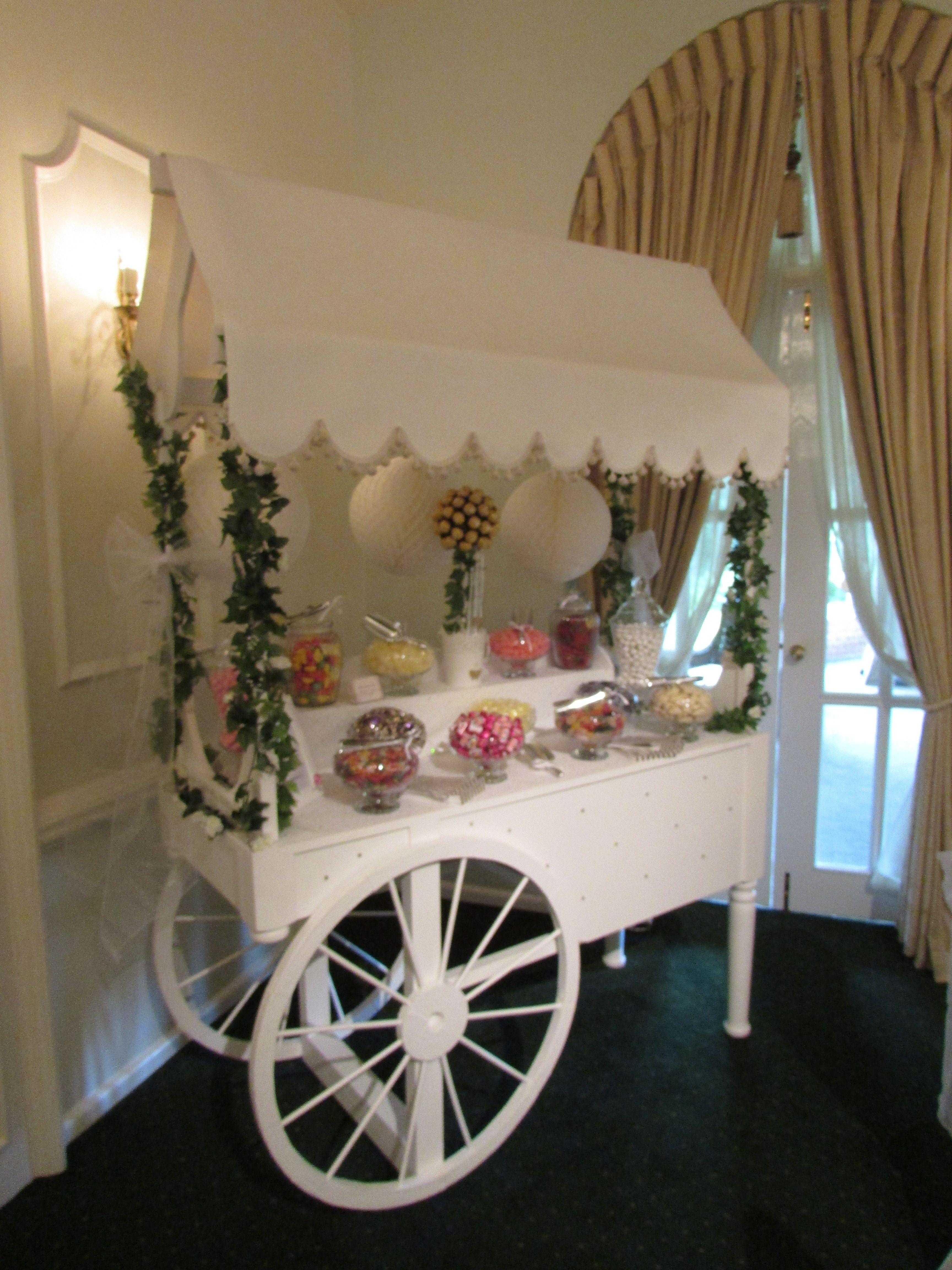 Wedding Ideas Sweet Cart Vintage Sweets Trolley Moor Hall Hotel Spa