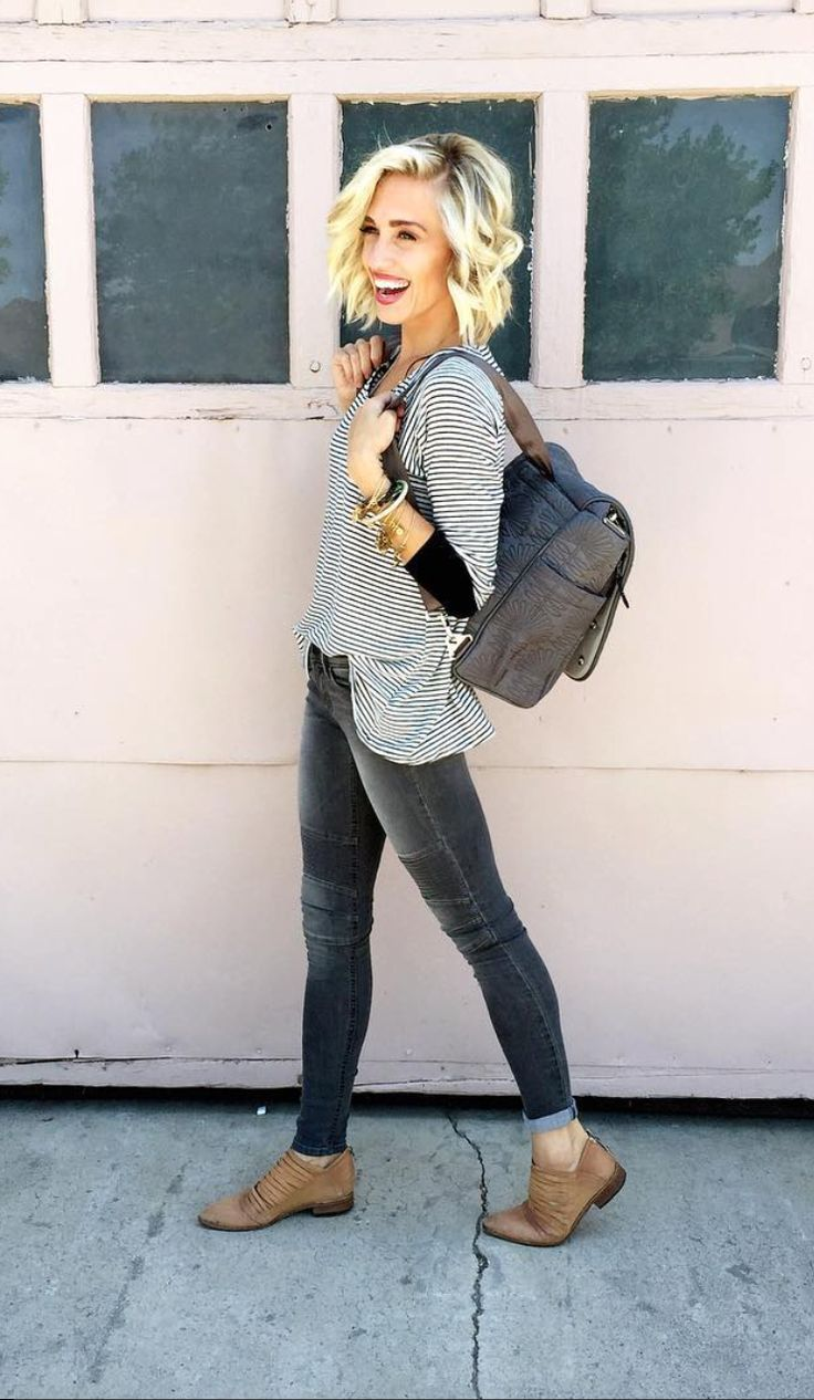 Shop The Pin: How to Wear Stripes & Skinny Moto Jeans This ...