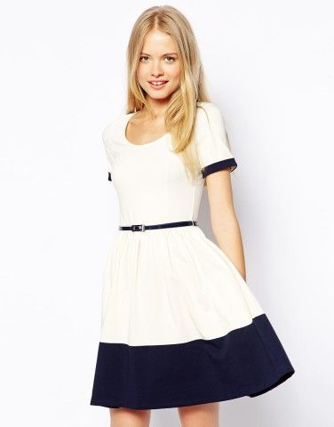 ASOS Skater Dress with Contrast Band, How would you style this? http://keep.com/asos-skater-dress-with-contrast-band-by-sedona_heidinger/k/0H3vzpABD9/