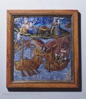 Maître de L'Énéide Plaque : Éole déchaîne les vents sur les Troyens à la prière de Junon Vers 1530